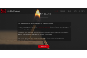 Molly Bendell Website Design Point Blank Podcast Hardboiled Noir Detective Fiction