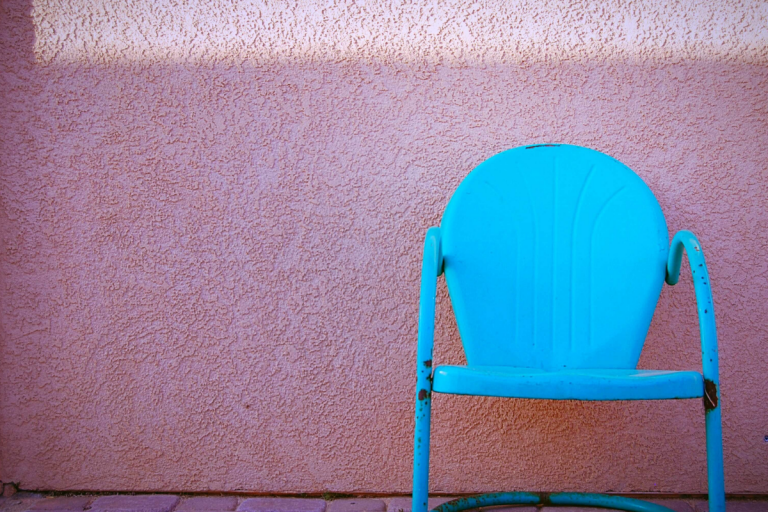 Simple Chair Yucca California Molly Bendell Photography